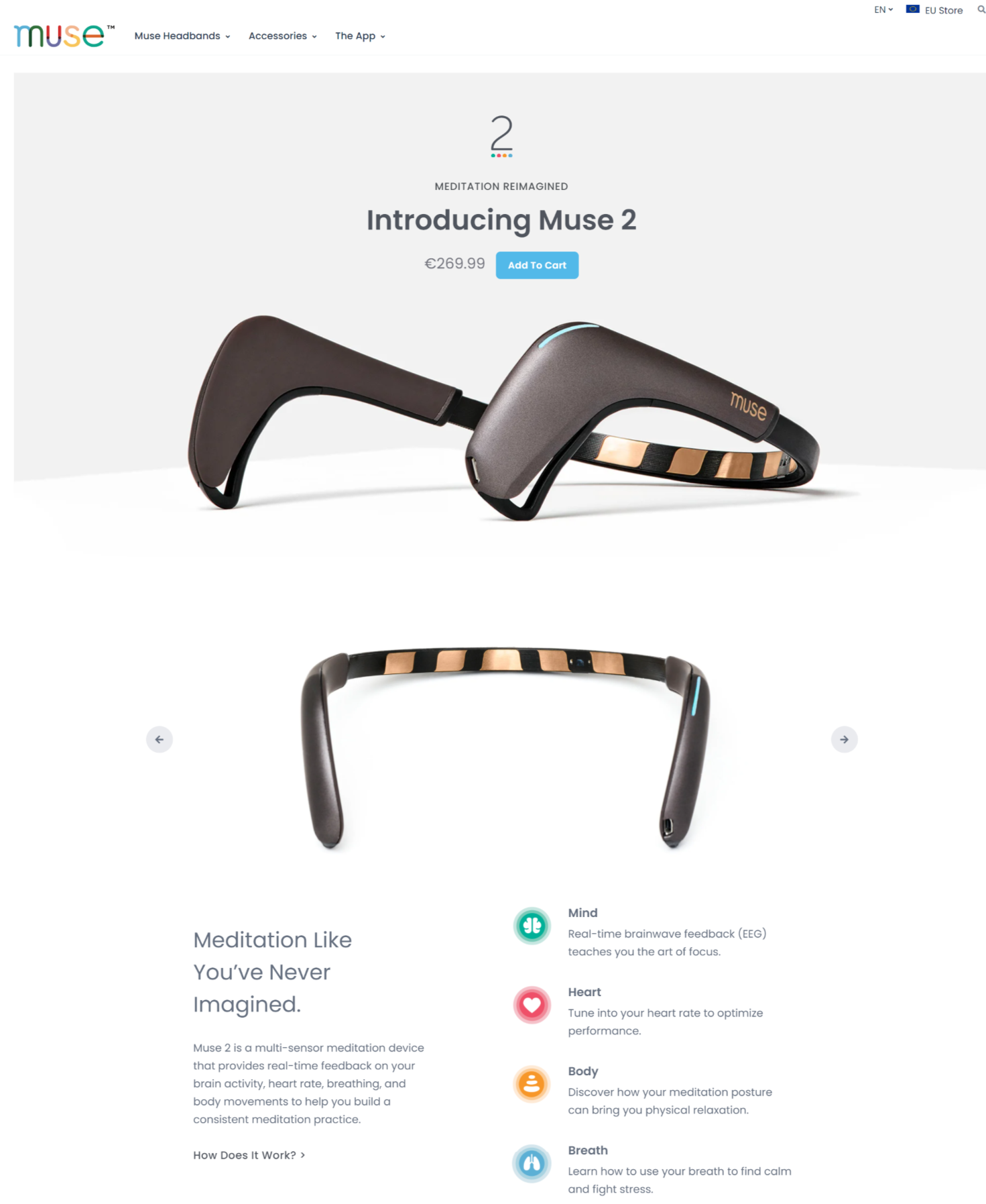single product ecommerce page