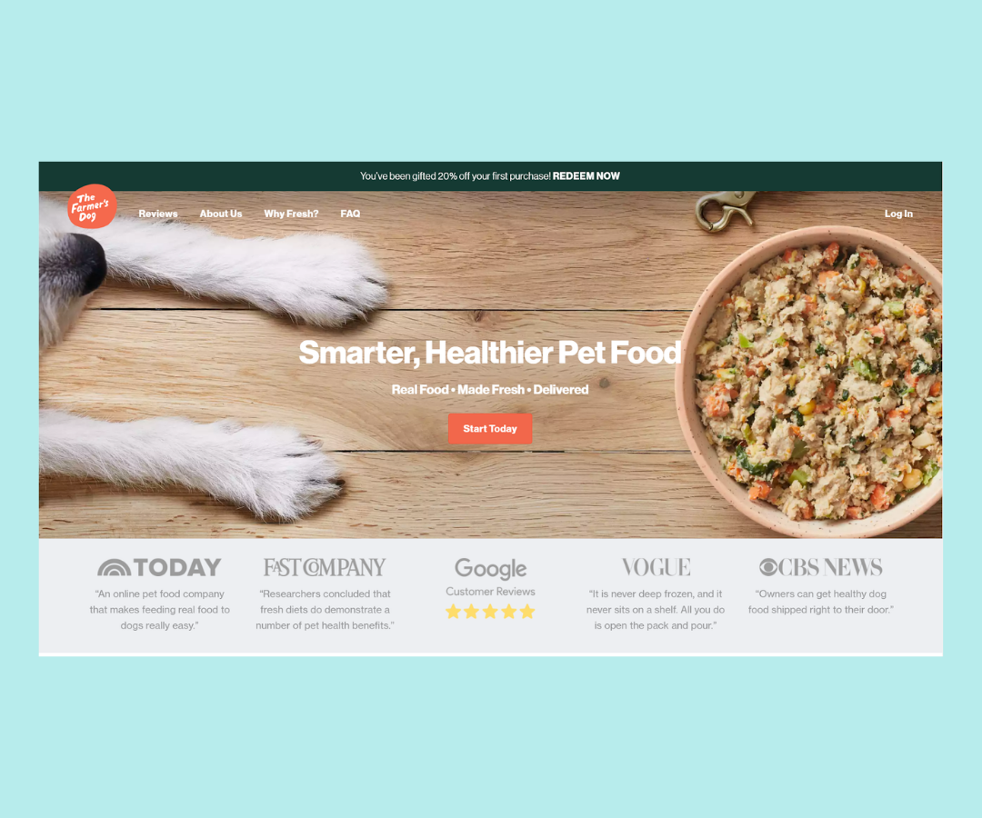 Social proof is a must on your shopify landing page