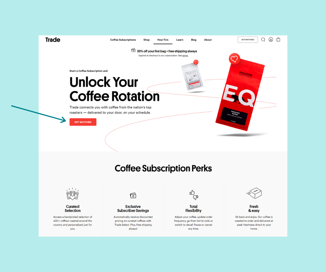 Landing page Calls to Action