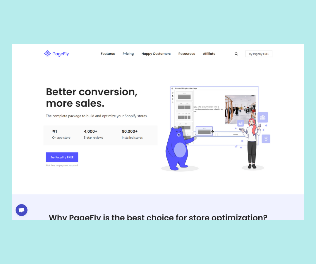 The Best landing page builder for Shopify