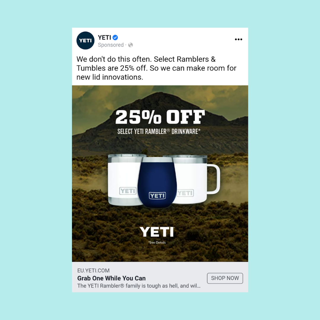While supplies last facebook ad